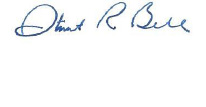 Dr. Bell's Signature